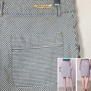 [Pilcro and the Letterpress] striped denim skirt